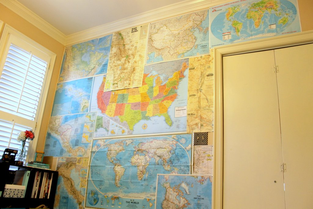 DIY Map Wall - Lauren-Likes Blog