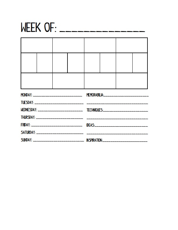 Free printable Project Life planner. Click through for printable.